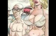 Busty Girl and Old Man