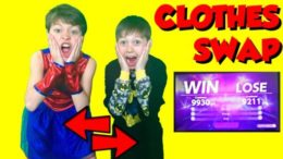 👕👖👚 Clothes Swap Challenge:  Kids! (Sister vs. Brother)  Nintendo 1 2 Switch Clothes